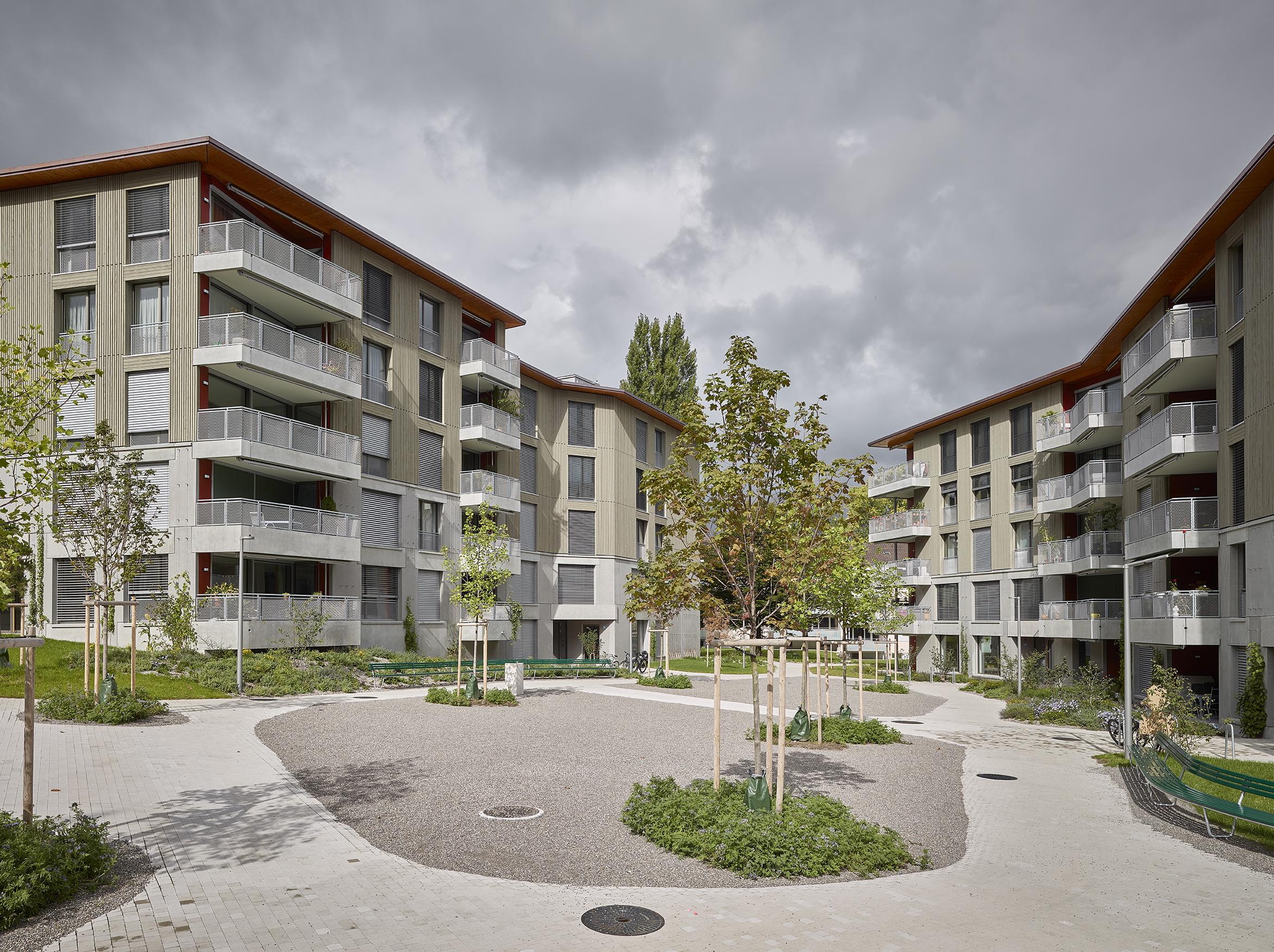 Wohn berbauung eyhof z rich holzbaub ro reusser gmbh winterthur - Architekten lindau ...